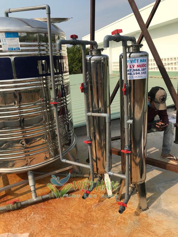Bộ lọc nước giếng khoan cột inox